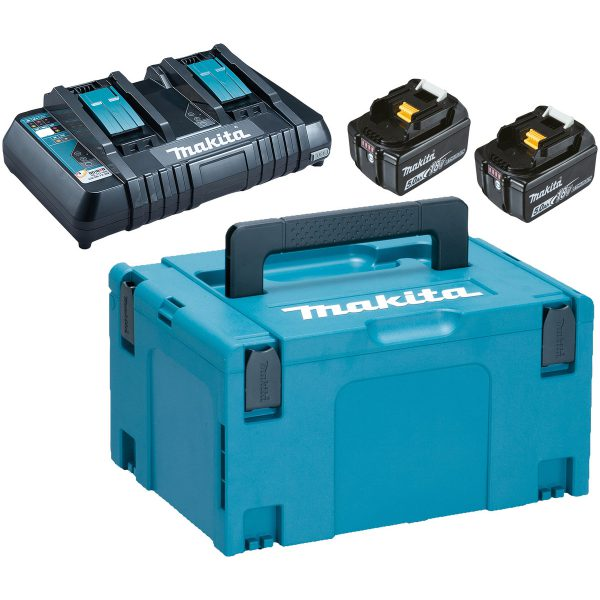 Makita 18V 2X5Ah tuplalaturi powerpack